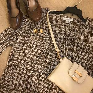 Liz Claiborne tan/brown tunic